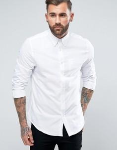 Однотонная оксфордская рубашка классического кроя Ben Sherman - Белый