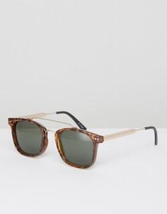 Черные квадратные солнцезащитные очки с планкой сверху Spitfire - Черный