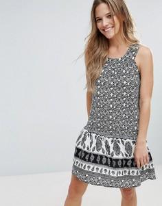 Платье с принтом Brave Soul Chantal - Черный