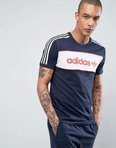 Синяя футболка adidas Originals London Pack BK7788 - Синий