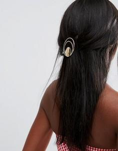 Заколка для волос с гладкими кольцами ASOS - Золотой