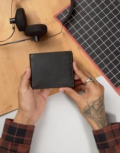 Классический кожаный бумажник Dead Vintage - Черный
