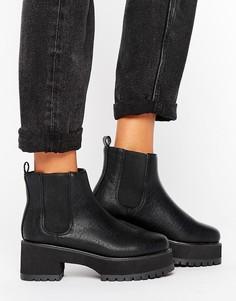Массивные ботинки челси ASOS RENEE - Черный