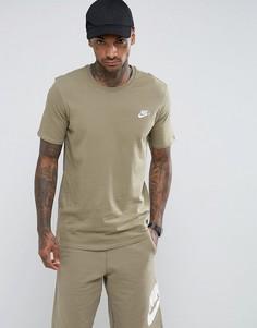 Зеленая футболка с вышитым логотипом Nike 827021-230 - Зеленый