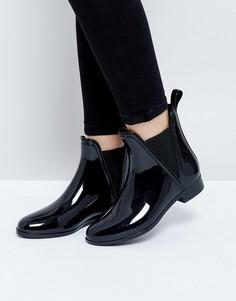 Резиновые ботинки челси ASOS GAME - Черный
