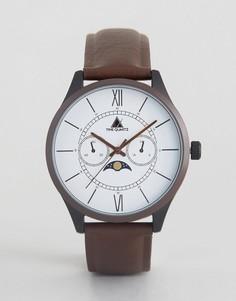 Часы с коричневым ремешком из кожзаменителя ASOS - Коричневый