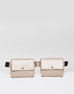 Сумка-кошелек на пояс в стиле милитари ASOS LIFESTYLE - Бежевый