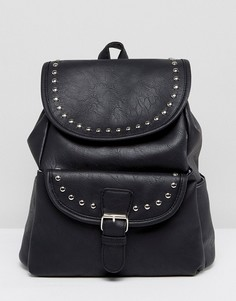Рюкзак с заклепками и карманом Yoki - Черный