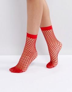 Красные сетчатые носки ASOS - Красный