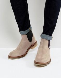 Серые замшевые ботинки челси ASOS - Серый