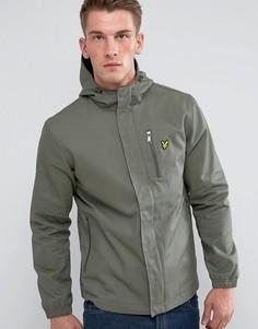 Зеленая куртка с капюшоном и асимметричным подолом Lyle & Scott - Зеленый