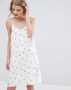 Платье мини с принтом Vila - Мульти