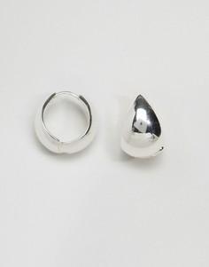 Массивные серьги-кольца ограниченной серии - Серебряный Asos