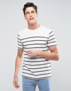 Кремовая футболка в полоску Abercrombie & Fitch - Серый