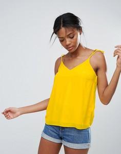 Топ с завязками New Look - Желтый