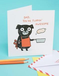 Открытка на День отца Ohh Deer Flippin Awesome - Мульти