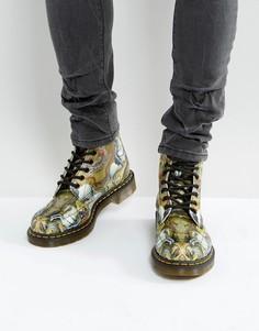 Ботинки с 8 парами люверсов Dr Martens 1460 George & Dragon - Мульти