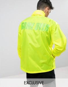 Желтая неоновая ветровка в стиле ретро Reclaimed Vintage Inspired - Желтый