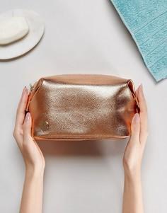 Золотисто-розовая косметичка с оттенком металлик Mi-Pac - Золотой