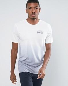 Голубая футболка с эффектом деграде Nike SB Dri-FIT 841542-100 - Синий