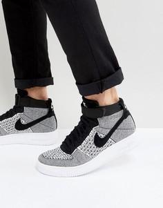 Черные кроссовки средней высоты Nike Air Force 1 817420-005 - Черный