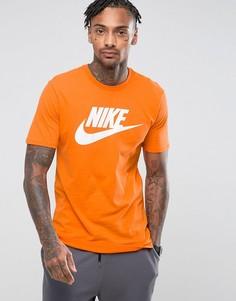 Оранжевая футболка с необработанным краем Nike Ultra 847542-856 - Оранжевый