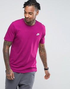 Фиолетовая футболка с вышивкой и логотипом Nike 827021-665 - Фиолетовый