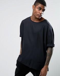 Свободная черная футболка ASOS - Черный