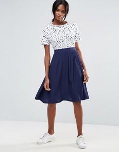 Расклешенная юбка миди Minimum - Темно-синий