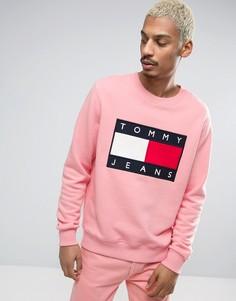 Розовый свитшот с круглым вырезом и логотипом спереди Tommy Jeans 90S M7 - Розовый