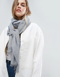 Легкий шарф в тонкую полоску ASOS - Серый