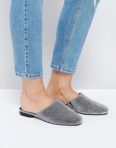 Туфли на плоской подошве ASOS MOTH - Серебряный