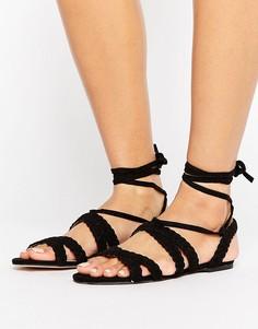 Босоножки на шнуровке Faith Jude - Черный