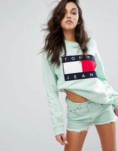 Свитшот в стиле 90-х Tommy Jeans - Зеленый