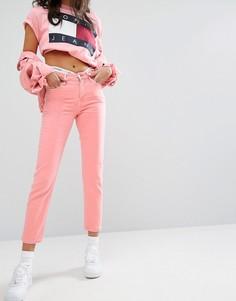 Укороченные прямые джинсы с завышенной талией Tommy Jeans - Розовый