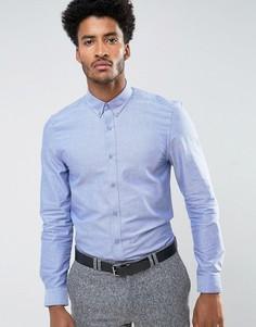 Однотонная облегающая оксфордская рубашка Ben Sherman - Синий