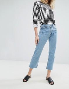 Укороченные джинсы с легким клешем и классической талией Dr Denim Meadow - Синий