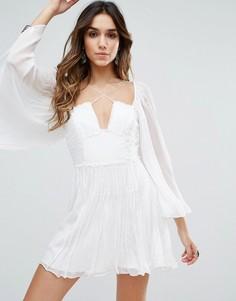 Платье для вечеринок с ярусной отделкой Free People - Белый