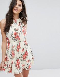 Шифоновое платье с принтом Abercrombie & Fitch - Мульти