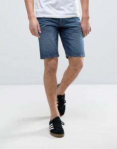 Джинсовые шорты с декоративными швами Produkt - Синий
