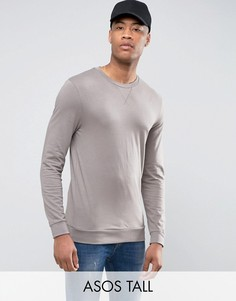 Легкий обтягивающий свитшот серого цвета ASOS TALL - Бежевый