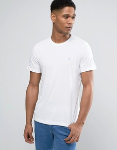 Белая облегабщая футболка с логотипом Abercrombie & Fitch - Белый