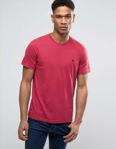 Красная облегающая футболка с логотипом Abercrombie & Fitch - Красный