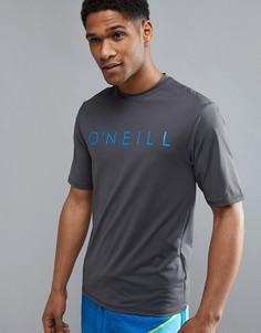 Серая узкая футболка с логотипом ONeill Pioneer - Серый O`Neill
