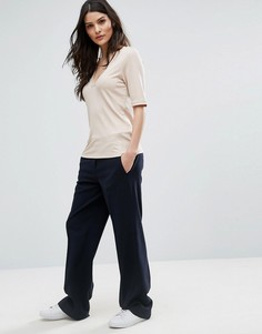 Широкие брюки Selected Cecille - Темно-синий