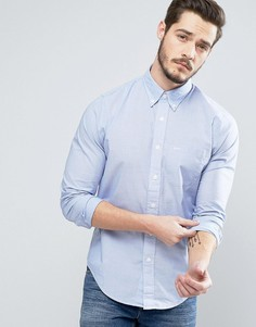 Синяя приталенная рубашка из поплина Abercrombie & Fitch - Синий