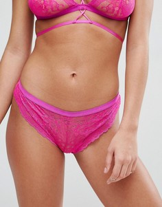 Кружевные трусы-шорты ASOS Logan - Розовый