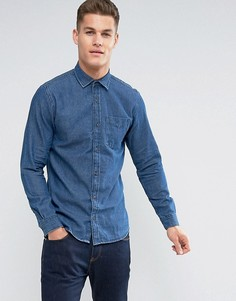 Джинсовая рубашка Jack & Jones - Темно-синий