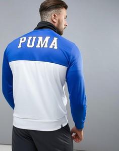 Белая спортивная куртка в винтажном стиле Puma - Белый