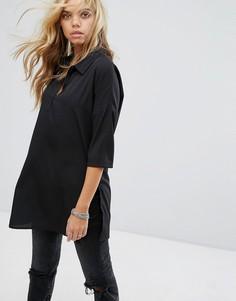 Туника в стиле рубашки Noisy May - Черный